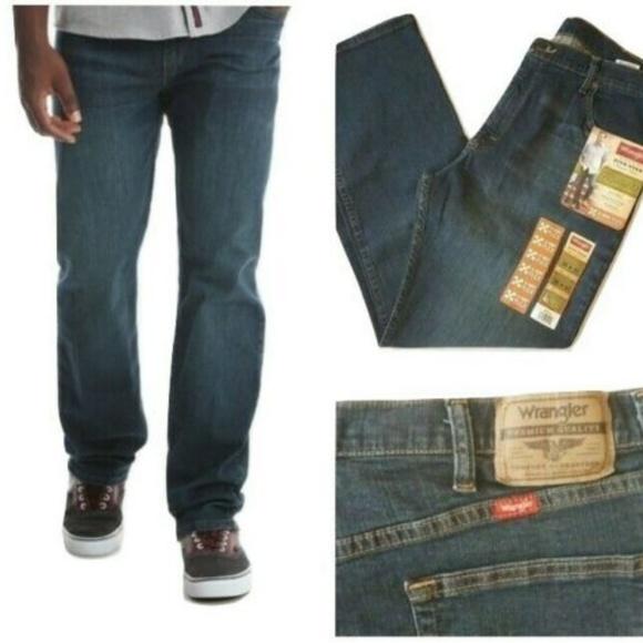 Mens Wrangler 5 Star 4 Way Flex Jeans